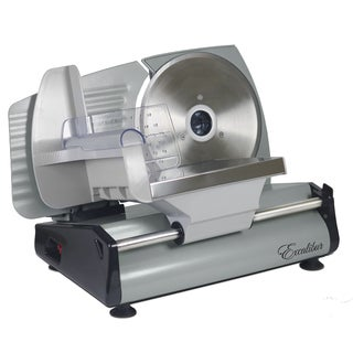 Excalibur Household Silver Metal 7.5-inch Electric Food Slicer