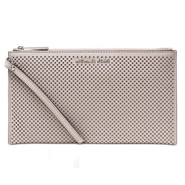 Michael Kors Jet Set Travel Large Zip Clutch - Cement