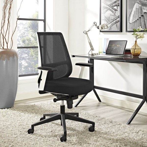 Pump White Frame Office Chair