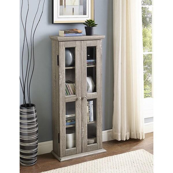 41-inch Wood Media Cabinet - Driftwood 20234805