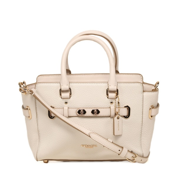 Coach Bubble Leather Chalk Blake Mini Carryall