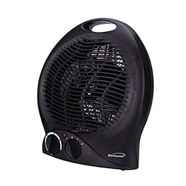 Brentwood Black 2-in-1 Portable Fan Heater
