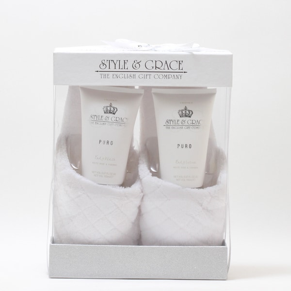 Style & Grace Puro Pure Bliss Slipper 3-piece Gift Set