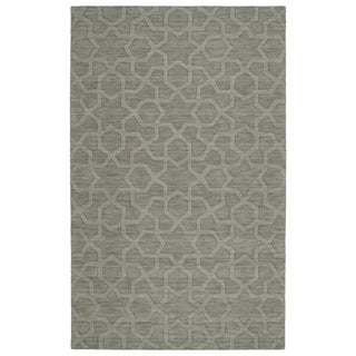 Trends Grey Geo Wool Rug (8'0 x 11'0)
