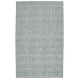 Trends Light Blue Prism Wool Rug (8'0 x 11'0)