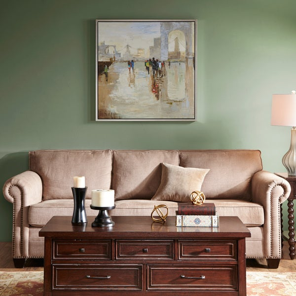 Madison Park Signature A Walk On The Avenue Multi Hand Embellished with Champagne Frame