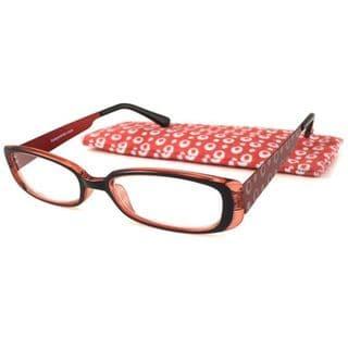 Icu Eyewear Round Bubble Red Reading Glasses