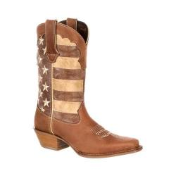 Women's Durango Boot DRD0131 12in Durango Crush Boot Brown/Union Flag Full Grain Leather/Faux Leather