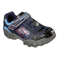 Boys' Skechers Hot Lights Damager II Adventure 2.0 Trail Sneaker Navy/Blue