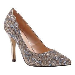 Women's Pink Paradox London Alexis Pointed Toe Pump Champagne Glitter Lace