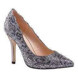 Women's Pink Paradox London Alexis Pointed Toe Pump Pewter Glitter Sequins