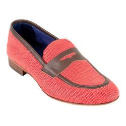Men's Giovanni Marquez 2031 Raffia Penny Loafer Red Leather