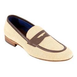 Men's Giovanni Marquez 2031 Raffia Penny Loafer Tan Leather