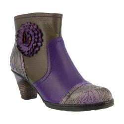 Women's L'Artiste by Spring Step Neske Bootie Purple Multi Leather