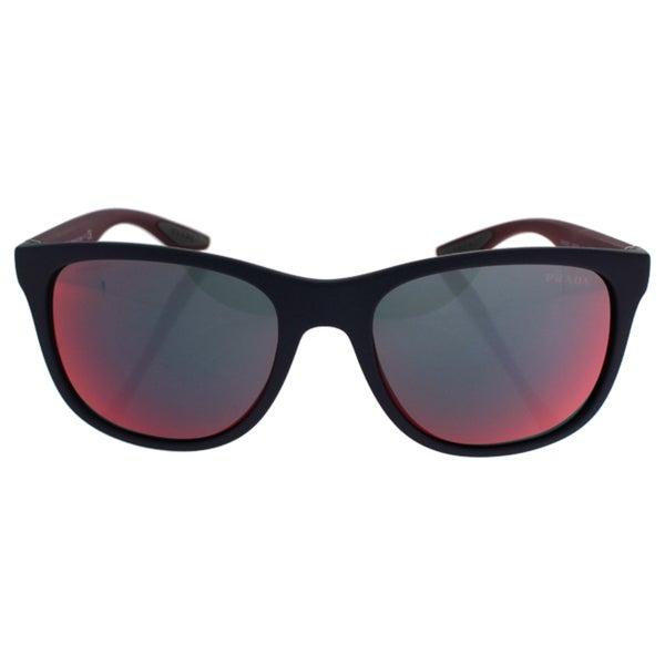 Prada Sport PS03OS-UBX9Q1 Sport Dark Grey Mirror Blue Red Sunglasses 20245991