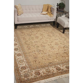 Nourison Royalty Light Green Area Rug (7'9 x 9'9)