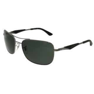 Ray-Ban RB3515-006/9A(61) Aviator Polarized Green Sunglasses
