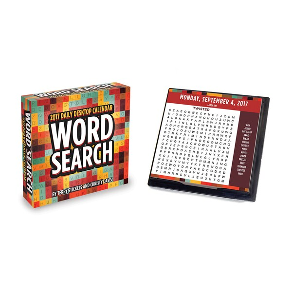 2017 Word Search Daily Desktop Paper Calendar