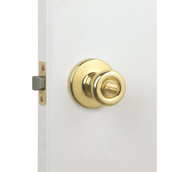 Kwikset 93001-504 Polished Brass Tylo Privacy Knob Set