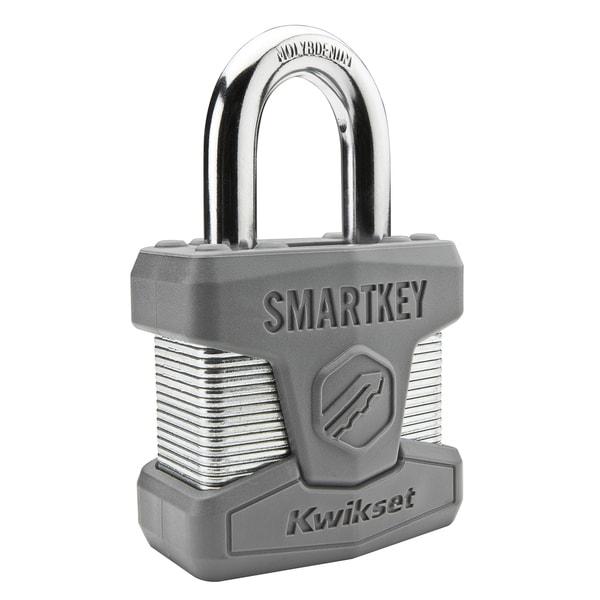Kwikset 90260-001 SmartKey Padlock Standard Shackle