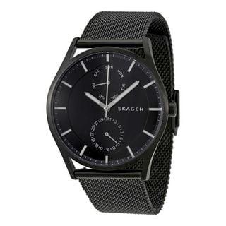 Skagen Men's SKW6318 'Holst' Multi-Function Black Stainless Steel Watch