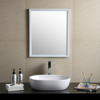 Fine Fixtures White Vitreous China Oval-shaped Vessel Bathroom Sink