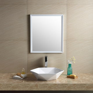 Fine Fixtures White Vitreous China Hexagon Vessel Bathroom Sink