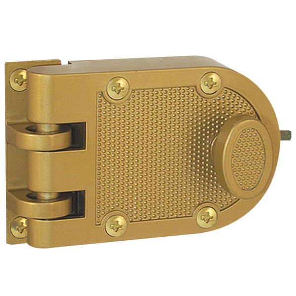 "Prime Line U9970 4-5/16"" Brass Diecast Jimmy-Proof Deadlock"