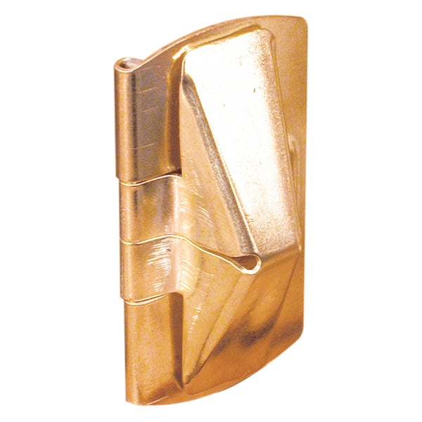 "Prime Line U9938 1"" X 2"" Brass Wood Window Flip Lock 2-count"