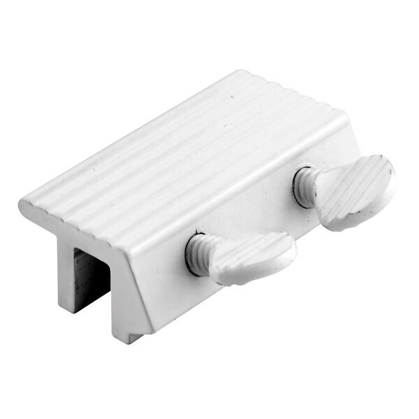 "Prime Line U9807 2"" White Aluminum Double Thumbscrew Sliding Window Lock"