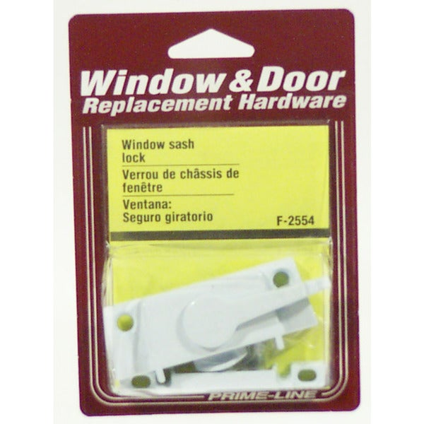Prime Line F2554 White Window Sash Lock