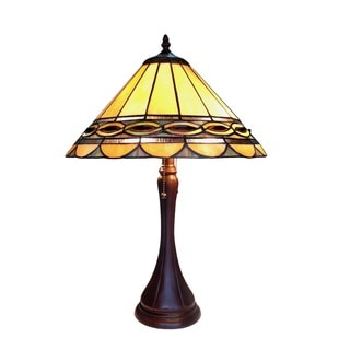 Chloe Tiffany Baroque Style 2-light Antique Bronze Table Lamp