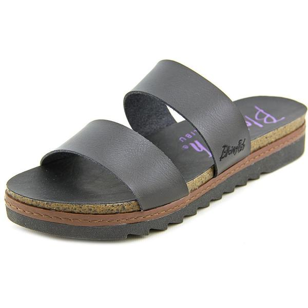 Blowfish Women's Supa Black Faux Leather Sandals