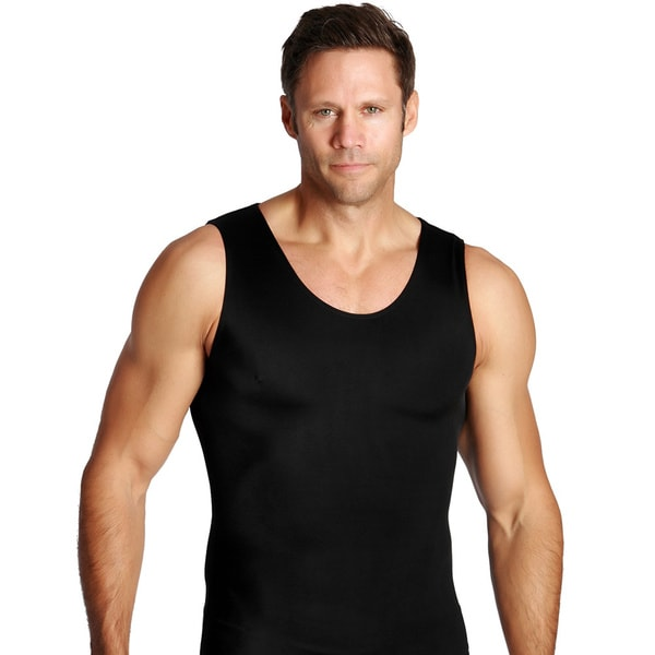 Insta Slim Compression Tank Shirts (Pack of 6) Large Size in Black (As Is Item)