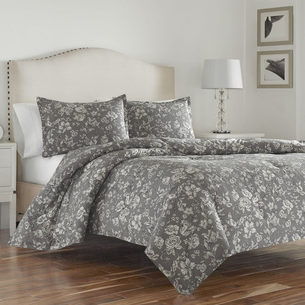 Wedgwood Vibrance Grey Cotton Duvet Cover Set