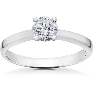 14k White Gold 1/2 ct TDW Lab Grown Eco Friendly Diamond Gabriella Engagement Ring (F-G, SI1-SI2)
