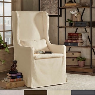 Potomac Slipcovered Wingback Host Chair by iNSPIRE Q Artisan