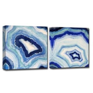 Ready2HangArt 'Ocean Geode I/II' by Norman Wyatt Jr. Canvas Art