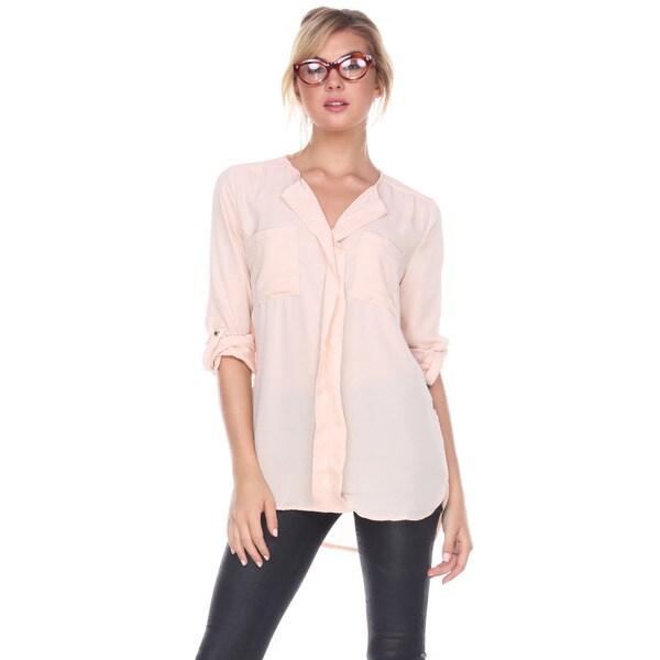 Stanzino Women's Peach Chiffon Shirt