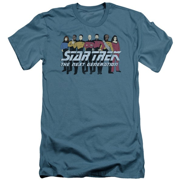 Star Trek/Line Up Short Sleeve Adult T-Shirt 30/1 in Slate