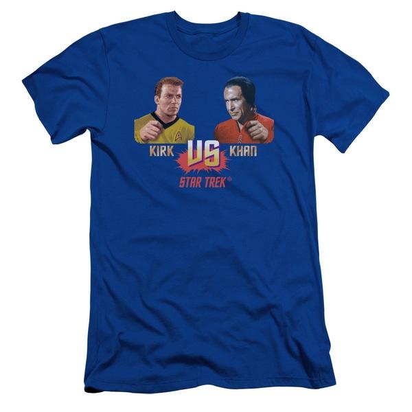 Star Trek/Kirk Vs Khan Short Sleeve Adult T-Shirt 30/1 in Royal