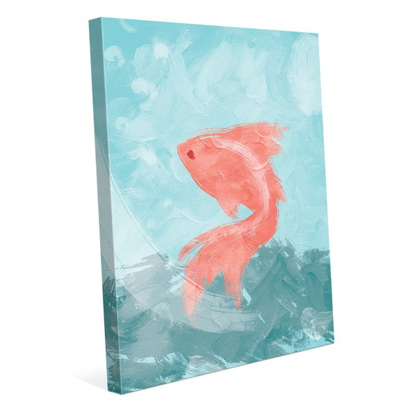 Goldfish Blue/Pink Canvas Wall Art