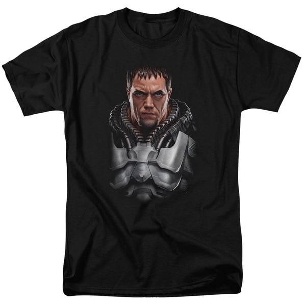 Man Of Steel/Zod Bust Short Sleeve Adult T-Shirt 18/1 in Black