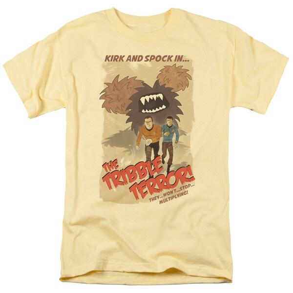 Star Trek/Tribble Threat Short Sleeve Adult T-Shirt 18/1 in Banana