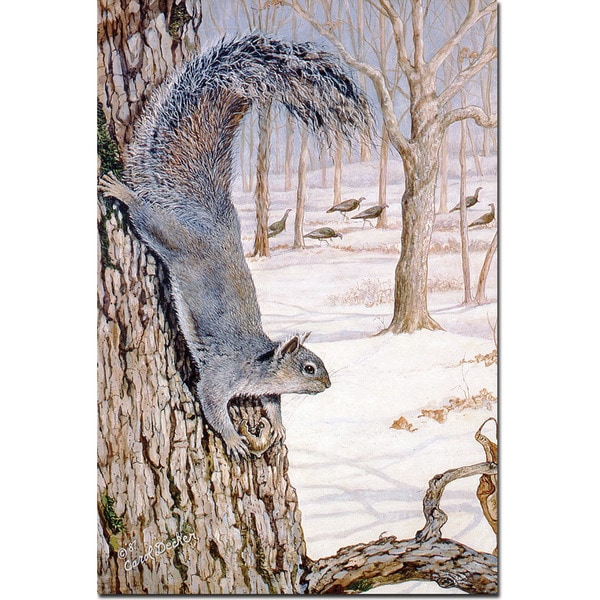 WGI Gallery Morning Feed (Squirrels) Wall Art Printed on Wood