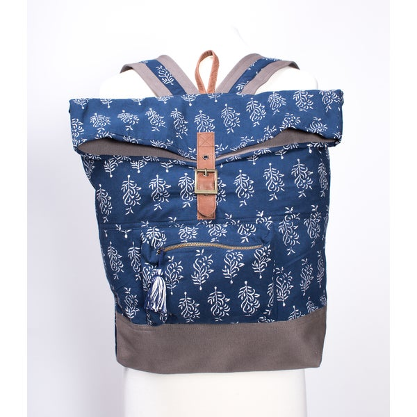 Delilah Navy Batik Backpack (India)