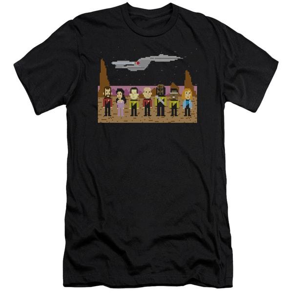 Star Trek/Tng Trexel Crew Short Sleeve Adult T-Shirt 30/1 in Black