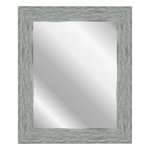 Forest Green Plastic Black Trail-accented Vintage Framed Wall Mirror