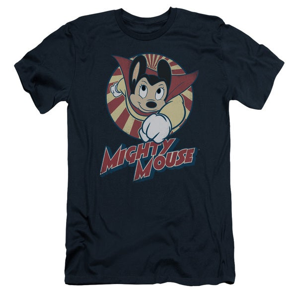Mighty Mouse/The One The Only Short Sleeve Adult T-Shirt 30/1 in Navy