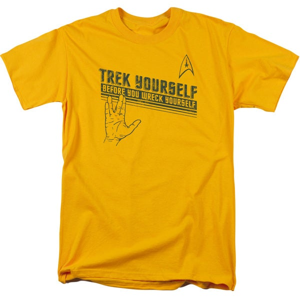 Star Trek/Trek Yourself Short Sleeve Adult T-Shirt 18/1 in Gold